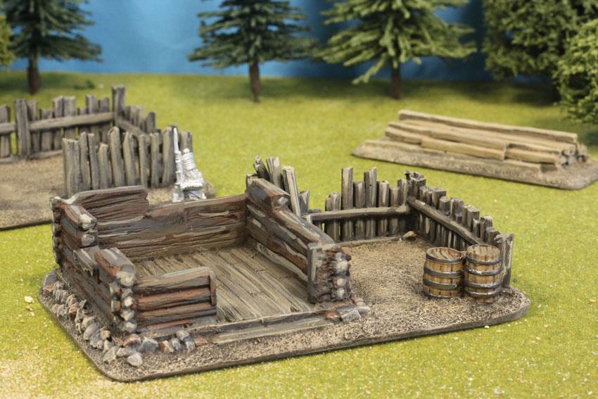 Dismantled Log Cabin With Side Fence