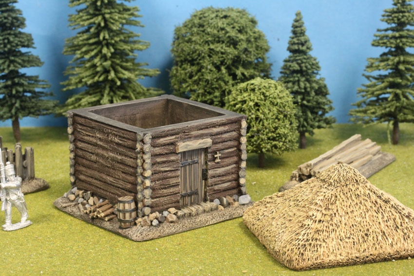 Square Log Cabin Thatch Roof