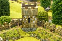 Norman corner watch tower with lift off turret