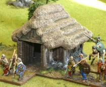 Gallic/Celtic store hut with porch