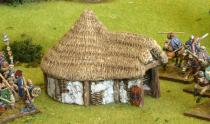 British Celtic round house with porch