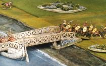 Roman bridge - timber end ramp