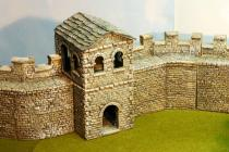 Mile watch tower stone slab roof -Hadrains wall