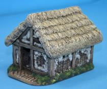 Medium wattle and daub store hut