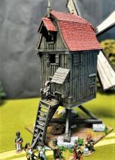 EUROPEAN WINDMILL WITH TILE ROOF