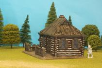Large Log House With 1/2 Hipped Plank Roof