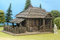 Large Log House With Plank Roof / Canopy