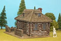 Large Log House With Shingle Roof