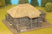 Large Plank House With Thatch Roof /Canopy