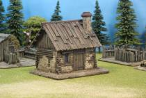 Small Timber /Daub Cabin With Plank Roof