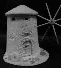 Spanish windmill with thatch roof