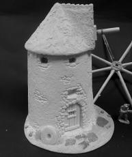 Spanish windmill with Tar pitched roof