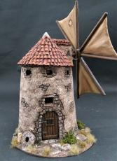 Spanish windmill with pan tile roof