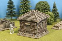 Square Log Cabin +Shingle Roof