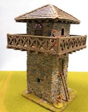 Stone Watchtower with  stone upper
