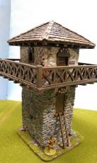 Stone Watchtower with daub upper