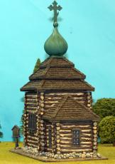 Timber Village Church With Shingle Roof