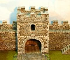 Main wall /milecastle  gate tower -Hadrains wall