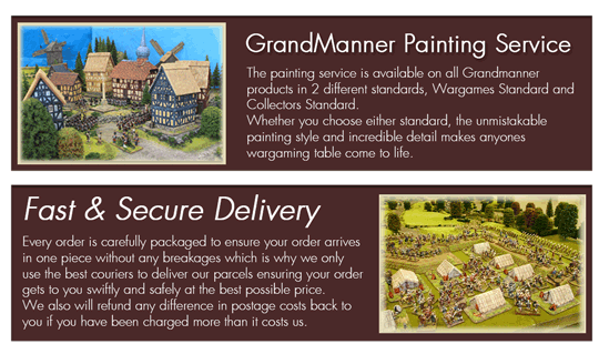 Home | GrandManner - Scale resin models and terrain buildings for